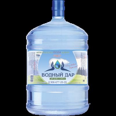 """""""Водный Дар"""" 19 литров (Одноразовая тара)"""