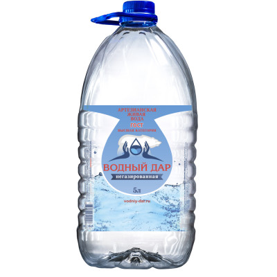 """""""Водный Дар"""" 5 литров (Одноразовая тара)"""