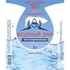 """""""Водный Дар"""" 2 шт. по 5 литров (Одноразовая тара)"""