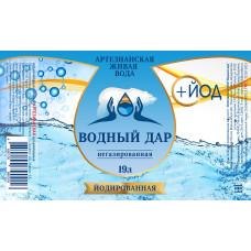 """""""Водный Дар + Йод"""" 19 литров (Одноразовая тара)"""